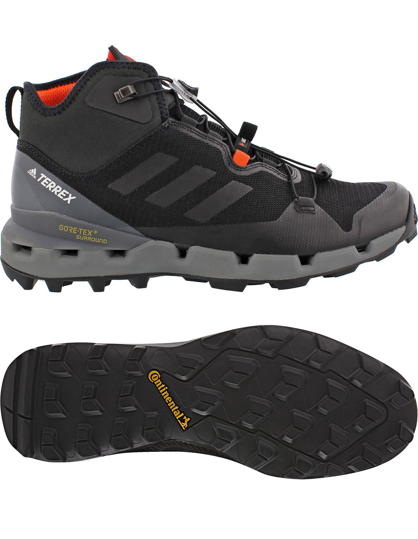 new arrival 57e1a a0596 Adidas Noir Terrex Gtx Surround Fast Chaussures Mid xXxPgRS