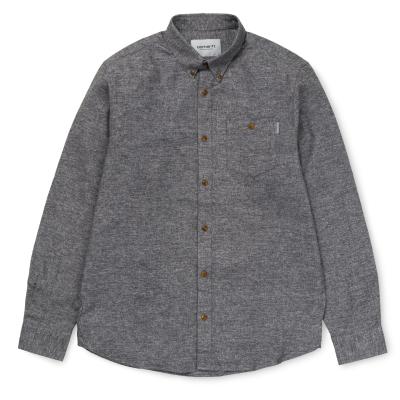 LS Cram Shirt Dark Grey Heather