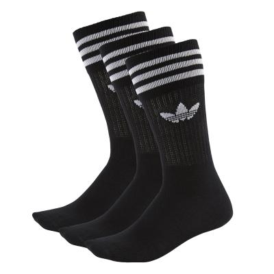 Solid Crew Sock Black/White
