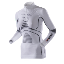Energy Accumulator Evo Zip Tee Women Blanc/Anthracite