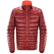 Achat Essens Down Jacket Men Dark Ruby/Habanero