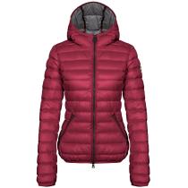 Buy Ladies Down Jacket Hood Burgundy