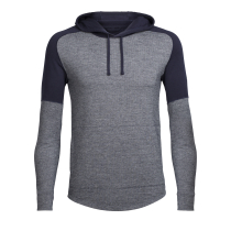 Achat Mens Momentum Ls Hood Midnight Navy/Snow Heather/Midnight Navy