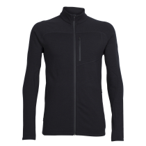 Buy Mens Mt Elliot LS Zip Black/Black/Black