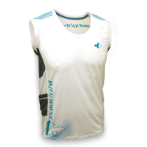 Ultralight Trail Tank White/Electric Blue