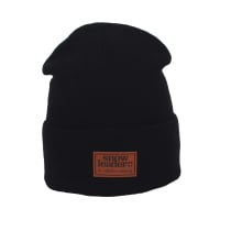 Kauf Snowleader Leather Beanie Black