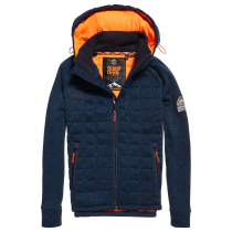 Buy Storm Quilted Ziphood M Indigo Navy Marl
