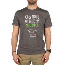Achat T-Shirt Chez Nous On Farte Pas Au Rebloch' Anthracite Chiné
