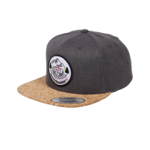 Buy Zoé Snapback Cap Cork Charcoal