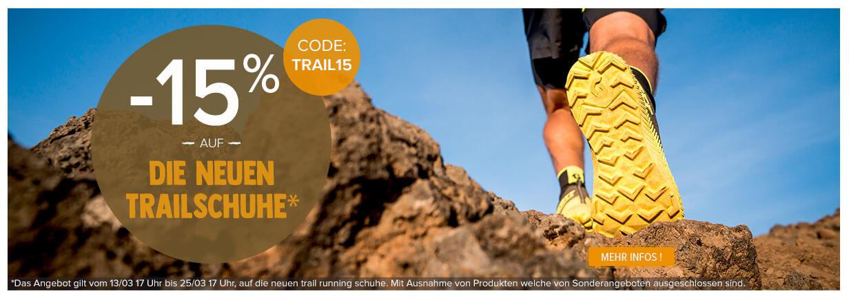 """-15 % auf die neuen trail running schuhe."""""""