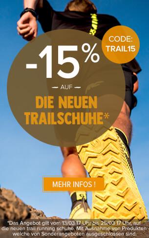 -15 % auf die neuen trail running schuhe.