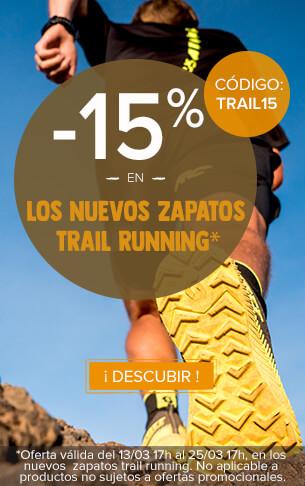 -15 % en los nuevos zapatos trail running.