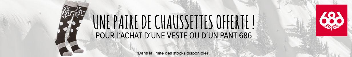 Chaussettes offertes sur la nouvelle collection 686