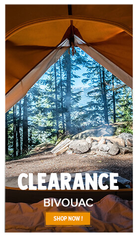 Bivouac equipment on clearance!