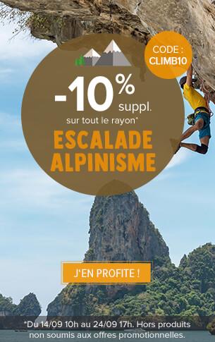 -10% sur tout le rayon escalade alpinisme