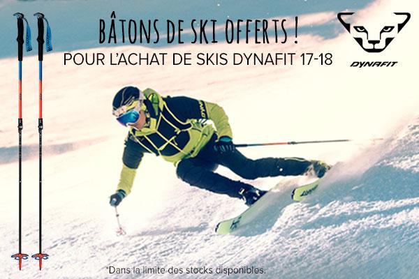 Bâtons offerts pour l'achat de skis Dynafit 17-18