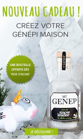 Nouveau cadeau, une bouteille de génépi offerte dès 150€ d'achat !