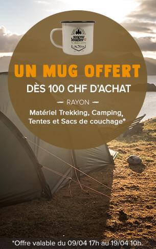 Un Rebloch Mug offert dès 100 CHF d'achat sur le rayon tentes!