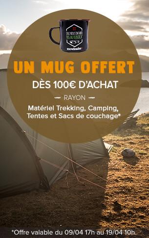 Un Rebloch Mug offert dès 100€ d'achat sur le rayon tentes!