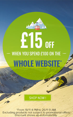 £15 off when you spend £100 off the whole website !