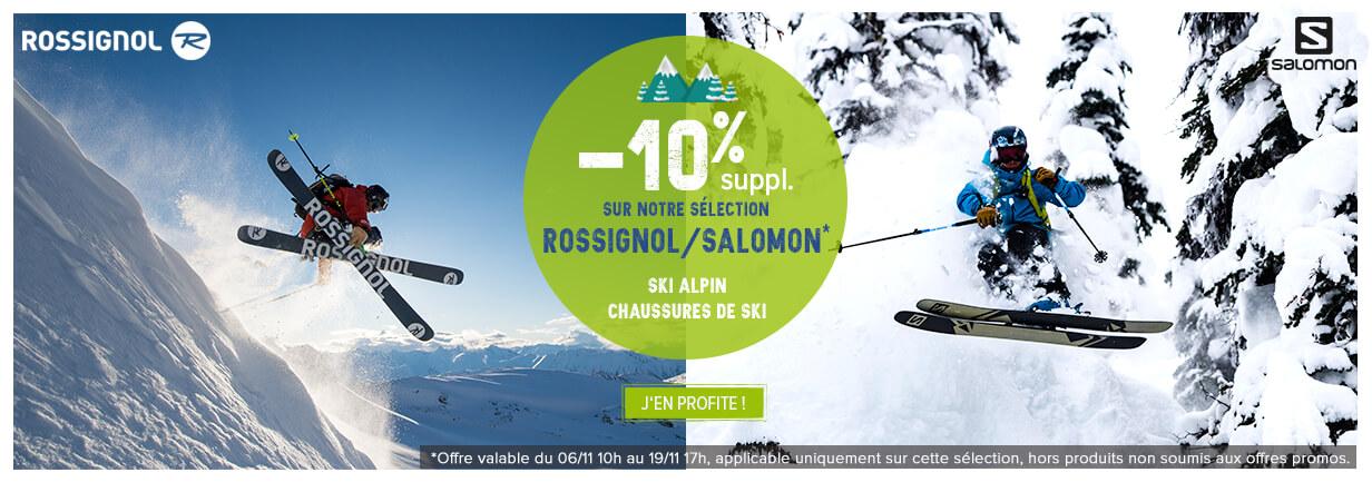 -10% suppl. sur notre sélection Rossignol/Salomon !