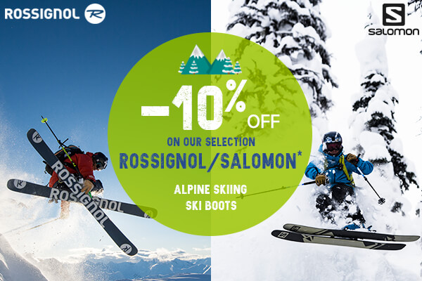 -10% OFF on our Rossignol/Salomon selection !