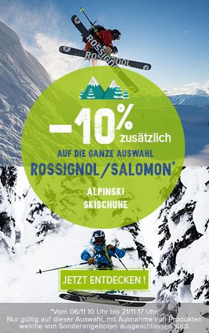 -10% zusätzlich auf die ganze auswahl Rossignol/Salomon !