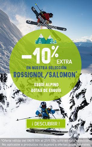 ¡-10% extra en nuestra selección Rossignol/Salomon !