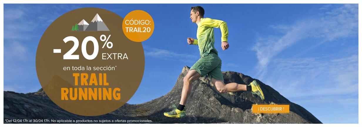 ¡-20% extra en toda la sección Trail/Running!