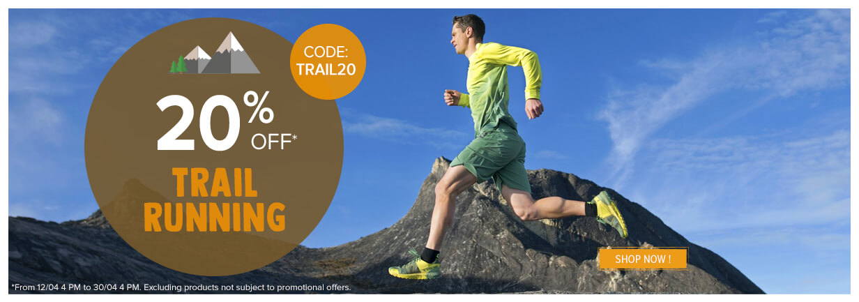 20% off on Trail/Running!