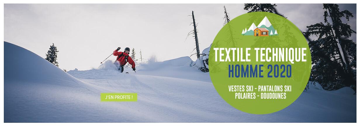 Découvrez notre large rayon Textile Technique Homme pour le ski : Vestes, Pantalons, Polaires ou encore Doudounes...