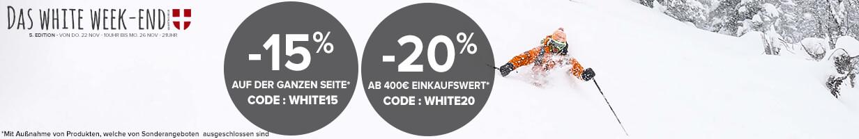 White Weekend: Bis zu -20% Rabatt auf der ganzen Seite!