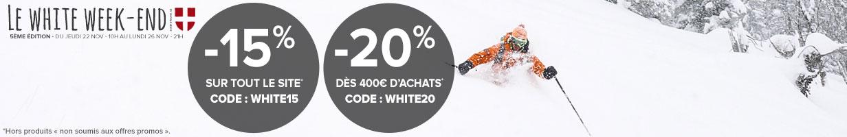 Le White Weekend: jusqu'à -20% sur tout le site !