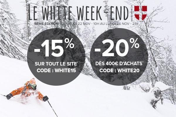 Le White Weekend -15% sur tout le site, -20% dès 300 euros d'achats