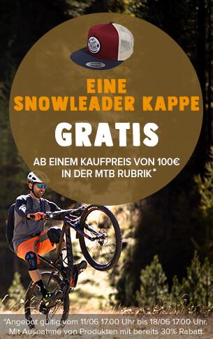 Eine Snowleader Kappe gratis ab einem Kaufpreis von 100€ in der MTB Rubrik.