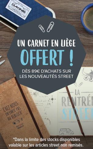 Un carnet de liège offert sur la nouvelle collection street!
