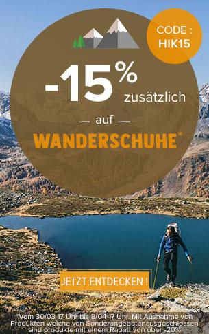 -15% zusätzlich auf Wanderschuhe : Meindl, Millet, Salomon…