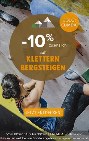 -15% zusätzlich auf Klettern Bergsteigen !