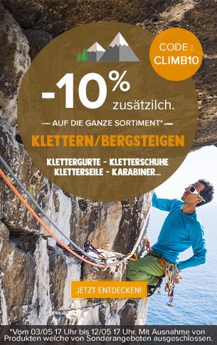 -10% zusätzlich auf Klettern : Kletterschuhe, Kletterseile, Klettergurte…