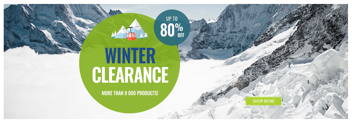 Up to -80% off on winter clearance