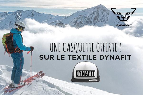 Une casquette offerte sur le textile Dynafit!