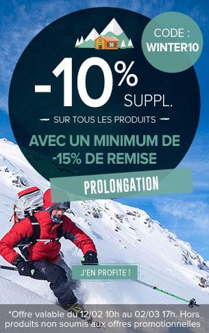 -10% supplémentaires sur tous les produits avec minimum de remise de -15%