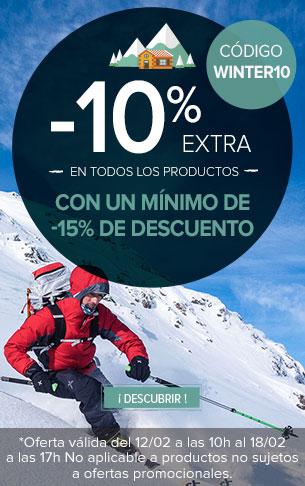 -10% extra en todos los productos con un mínimo de -15% de descuento