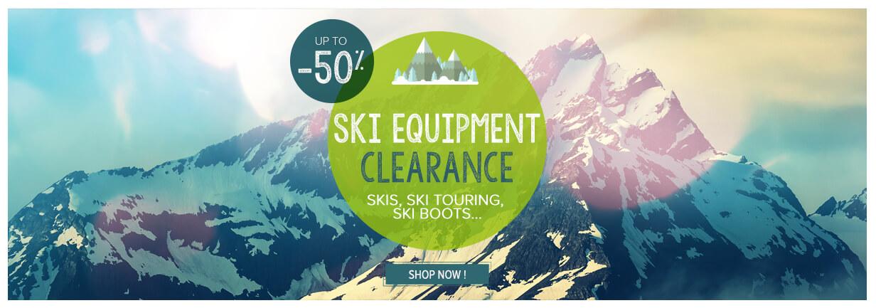 Ski equipment clearance!