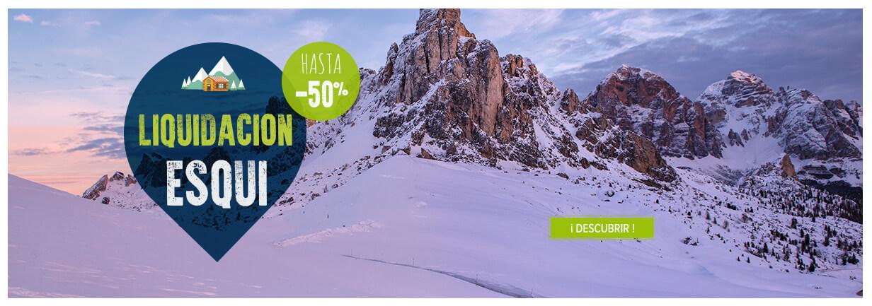 ¡Liquidación esquí, hasta -50%!