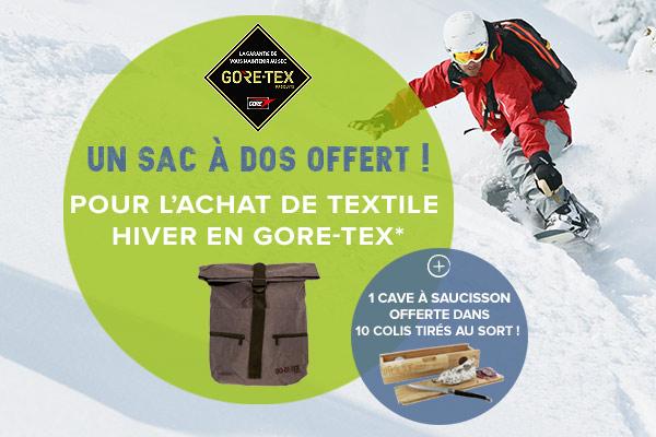 GORE-TEX : un sac à dos offert dès 299€ d'achats textile hiver