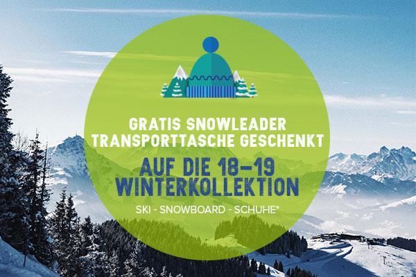 Gratis snowleader transporttasche geschenkt!