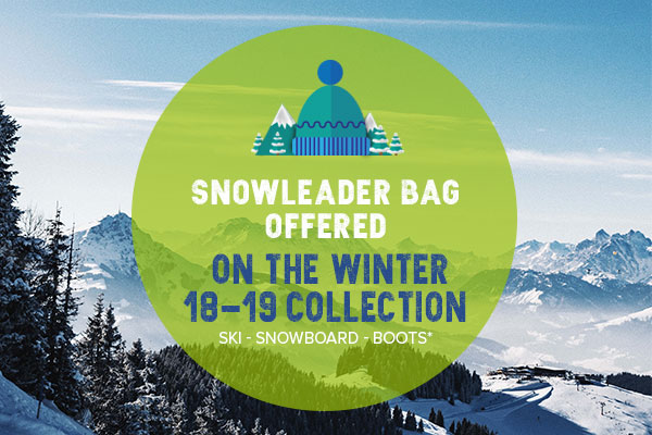 Snowleader bag offered on the winter 18-19 collection!