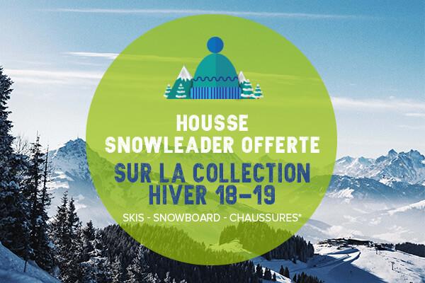 Housse snowleader offerte sur la collection hiver 18-19!