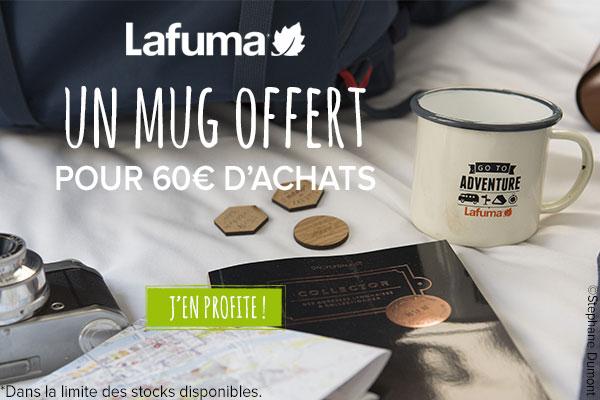 Un mug offert dès 89€ d'achats Lafuma